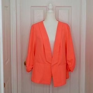 TORRID Bright Pink/Coral Blazer (Size PS2)